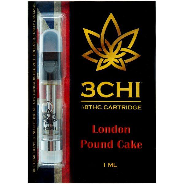3Chi Delta 8 Vape Cartridge London Pound Cake 1ml