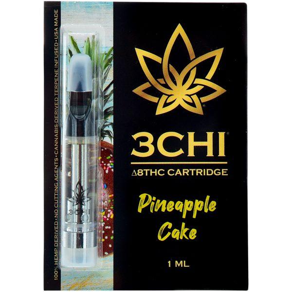 3Chi Delta 8 Vape Cartridge Pineapple Cake