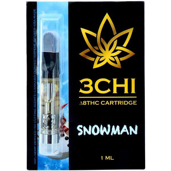 3Chi Delta 8 Vape Cartridge Snowman 1ml