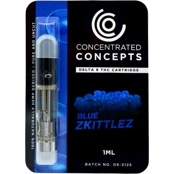 Concentrated Concepts Delta 8 Vape Cartridge Blue Zkittlez 1ml