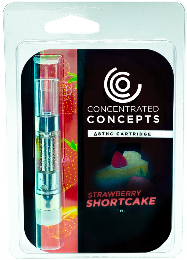 Concentrated Concepts Delta 8 Vape Cartridge Strawberry Shortcake 1ml