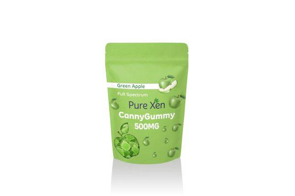 Pure Xen Delta 8 Gummies Green Apple 500mg 15ct