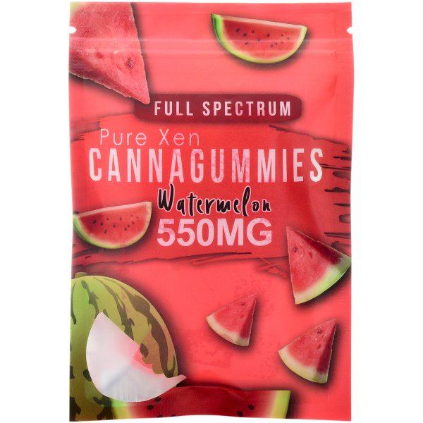 Pure Xen Delta 8 Gummies Watermelon 500mg 15ct
