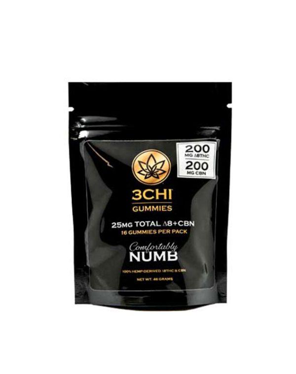 3Chi Comfortably Numb Delta 8 & CBN Gummies 400mg 16ct