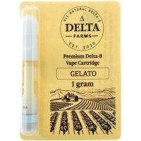 Delta Farms Delta 8 Vape Cartridge Gelato 1ml