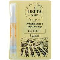 Delta Farms Delta 8 Vape Cartridge OG Kush 1ml