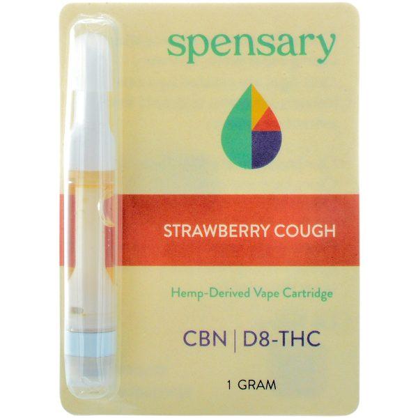 Spensary Delta 8 & CBN Vape Cartridge Strawberry Cough 1ml