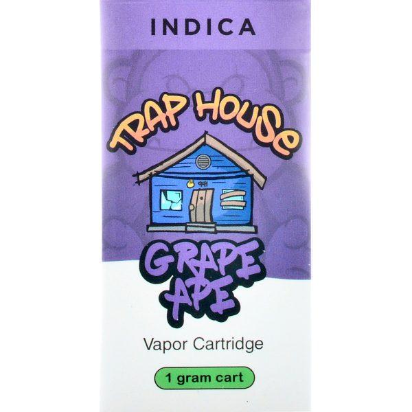 Trap House Delta 8 Vape Cartridge Grape Ape 1ml