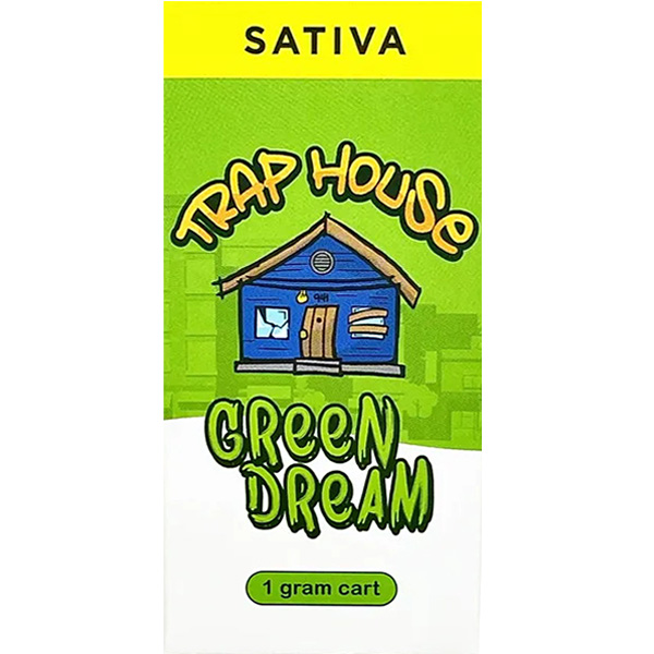 Trap House Delta 8 Vape Cartridge Green Dream 1ml