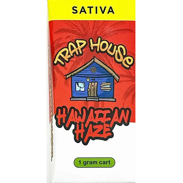 Trap House Delta 8 Vape Cartridge Hawaiian Haze 1ml