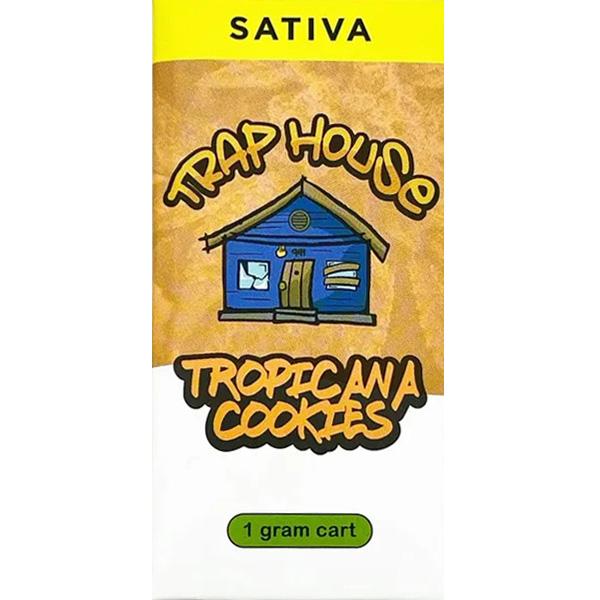 Trap House Delta 8 Vape Cartridge Tropicana Cookies 1ml