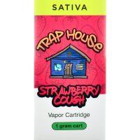 Trap House Delta 8 Vape Strawberry Cartridge Cough 1ml