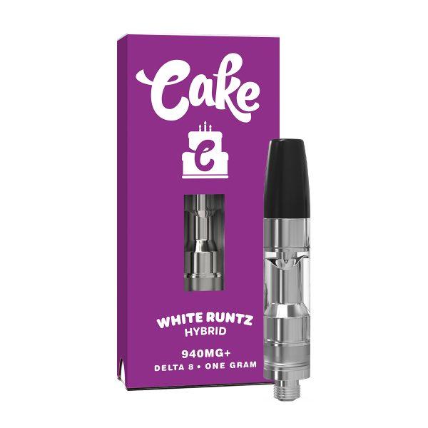Cake Delta 8 Vape Cartridge White Runtz 1ml