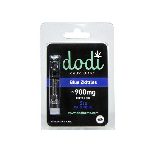 Dodi Delta 8 Vape Cartridge Blue Skittles 1ml