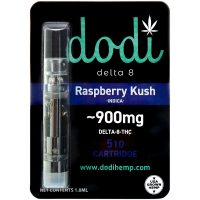 Dodi Delta 8 Vape Cartridge Raspberry Kush 1ml