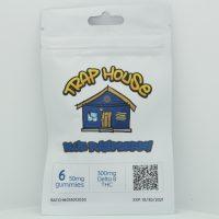 Trap House Delta 8 Gummies Blue Raspberry 300mg 6ct
