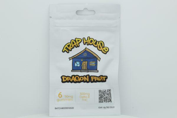 Trap House Delta 8 Gummies Dragon Fruit 300mg 6ct