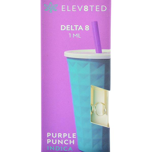 Elev8ted Delta 8 Vape Cartridge Purple Punch 1ml