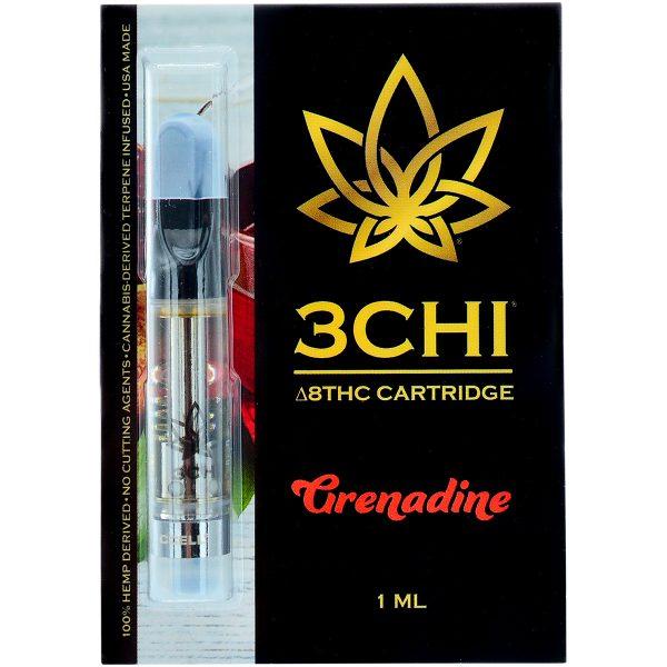 3Chi Delta 8 Vape Cartridge Grenadine 1ml
