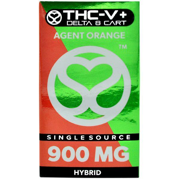 Single Source Delta 8 & THCV Vape Cartridge 1g Agent Orange