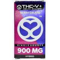 Single Source Delta 8 & THCV Vape Cartridge 1g Berry Gelato