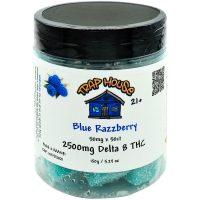 Trap House Delta 8 Gummies Blue Razzberry 2500mg 50ct