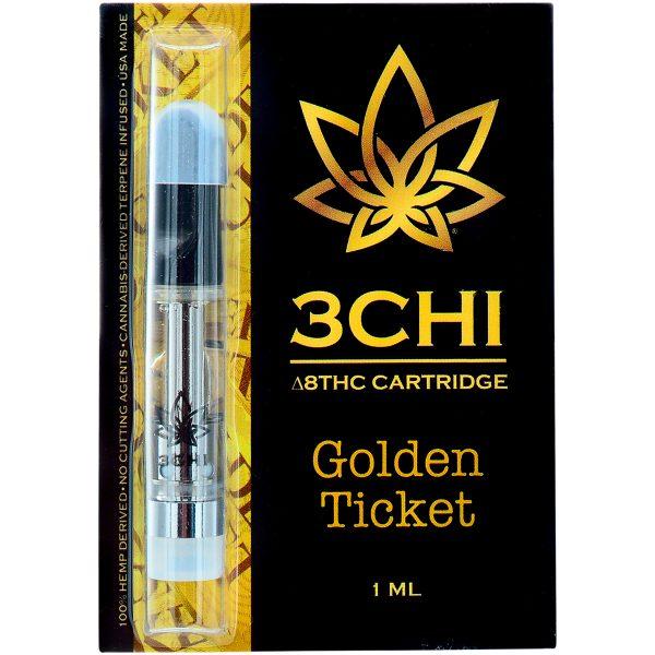 3Chi Delta 8 Vape Cartridge Golden Ticket 1ml