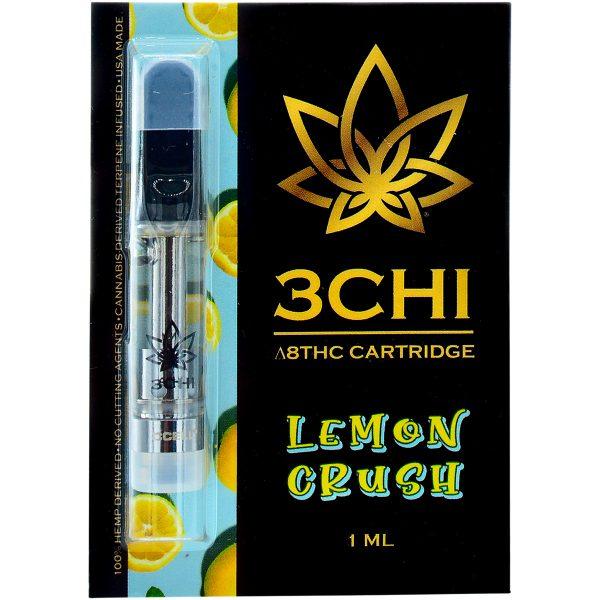 3Chi Delta 8 Vape Cartridge Lemon Crush 1ml