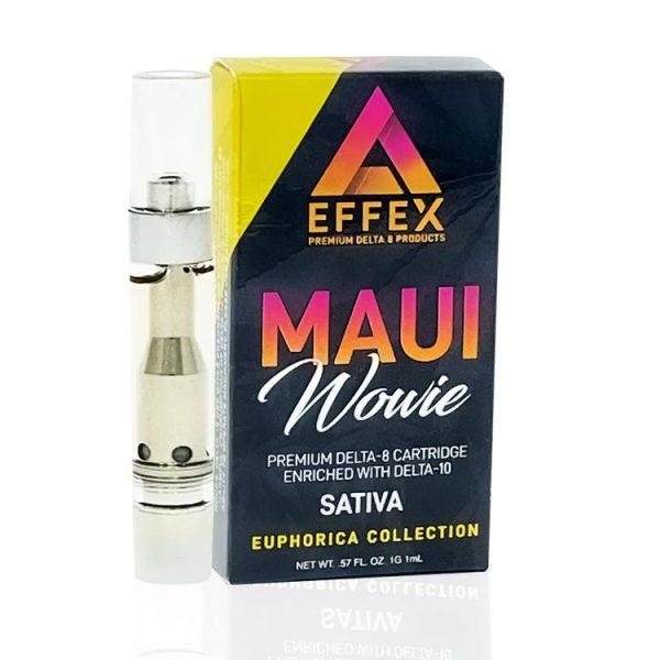 Delta Effex Delta 8 & Delta 10 Vape Cartridge Maui Wowie 1g