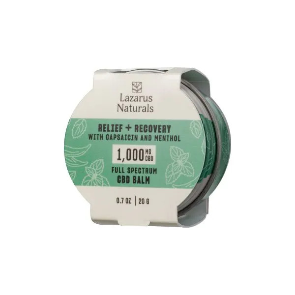 Lazarus Naturals Full Spectrum CBD Balm Relief Recovery 1000mg .7oz