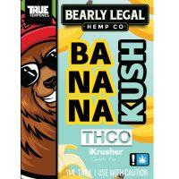 Bearly Legal Hemp THC-O Vape Cartridge Banana Kush 1ml