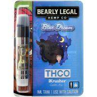 Bearly Legal Hemp THC-O Vape Cartridge Blue Dream 1ml