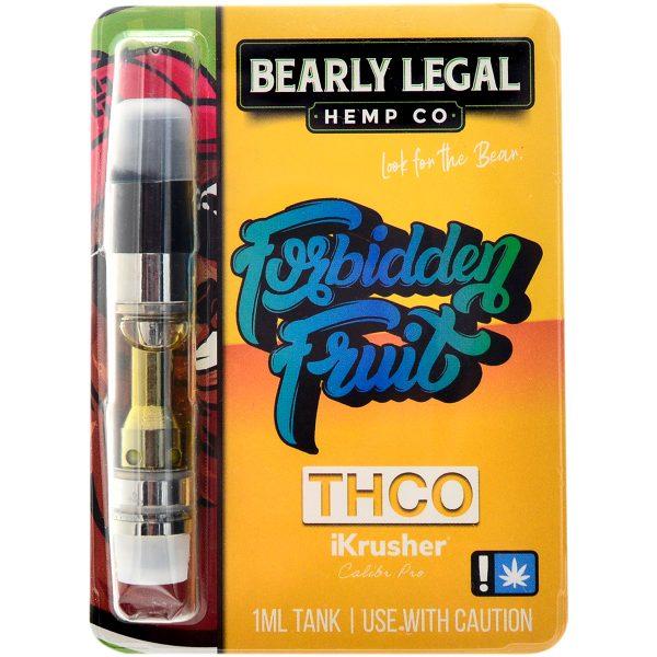 Bearly Legal Hemp THC-O Vape Cartridge Forbidden Fruit 1ml