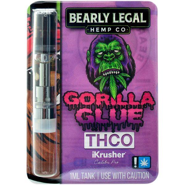 Bearly Legal Hemp THC-O Vape Cartridge Gorilla Glue 1ml