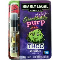 Bearly Legal Hemp THC-O Vape Cartridge Grandaddy Purple 1ml
