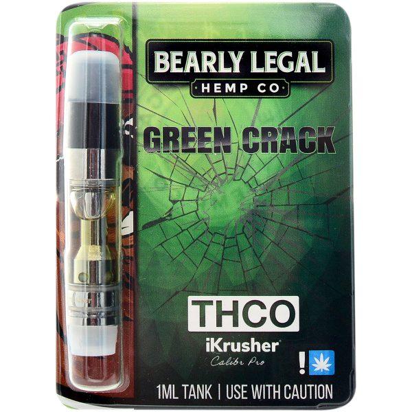 Bearly Legal Hemp THC-O Vape Cartridge Green Crack 1ml