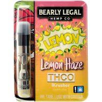 Bearly Legal Hemp THC-O Vape Cartridge Lemon Haze 1ml