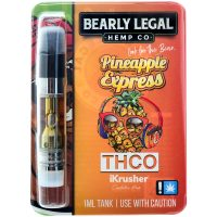 Bearly Legal Hemp THC-O Vape Cartridge Pineapple Express 1ml