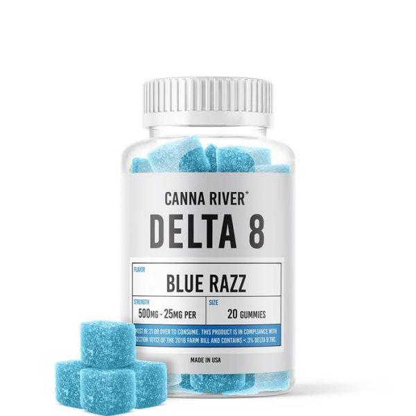 Canna River Delta 8 Gummies Blue Razz 500mg 20ct