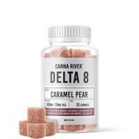 Canna River Delta 8 Gummies Caramel Pear 500mg 20ct