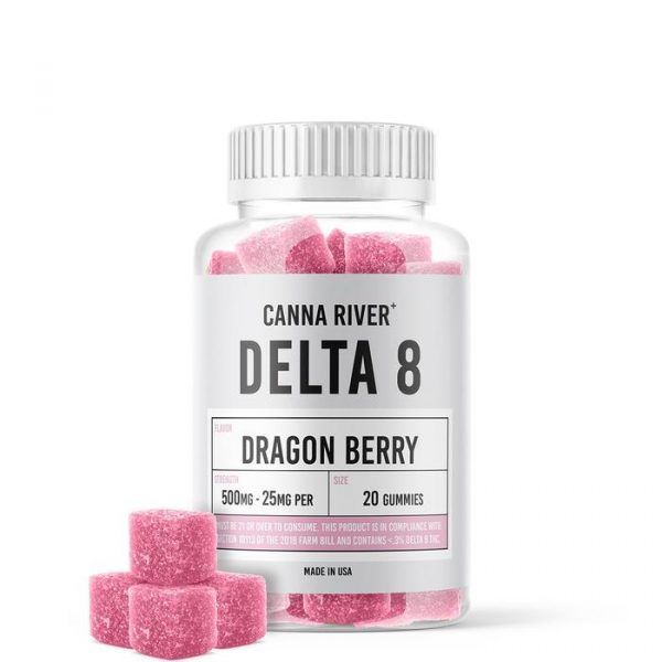 Canna River Delta 8 Gummies Dragon Berry 500mg 20ct