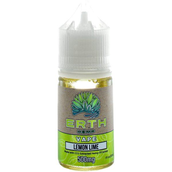 Erth Hemp CBD Vape Juice Lemon Lime 500mg 30ml