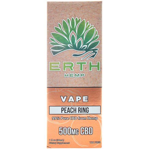 Erth Hemp CBD Vape Juice Peach Ring 500mg 30ml
