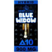 Hemp Living Delta 8 & Delta 10 Vape Cartridge Blue Widow 1g