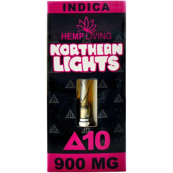 Hemp Living Delta 8 & Delta 10 Vape Cartridge Northern Lights 1g
