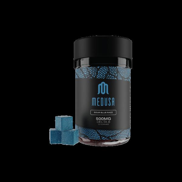 Medusa Delta 8 Gummies Sour Blue Razz 500mg 20ct