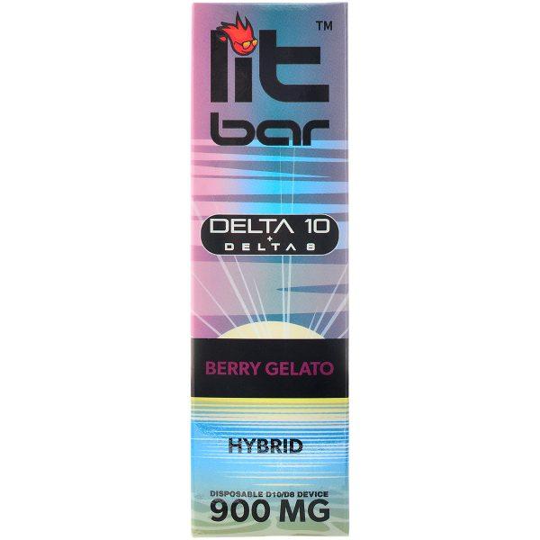Single Source Litbar Delta 8 & Delta 10 Vape Pen Berry Gelato 1g