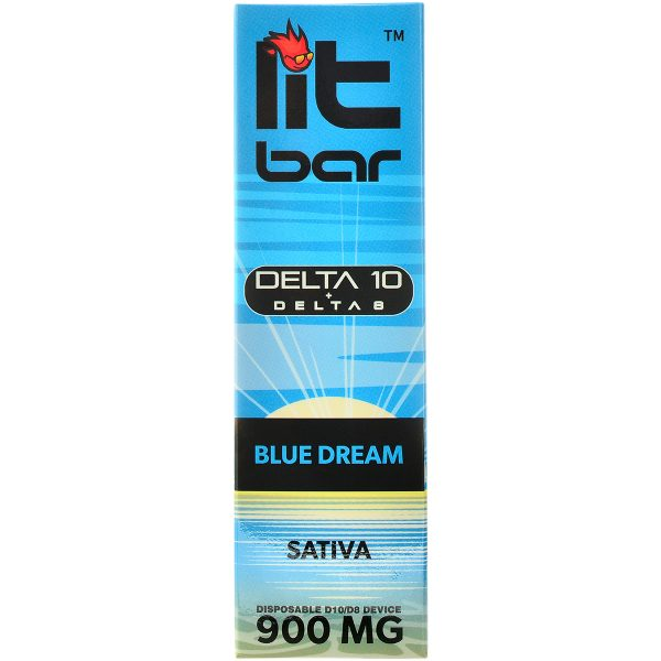 Single Source Litbar Delta 8 & Delta 10 Vape Pen Blue Dream 1g
