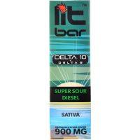 Single Source Litbar Delta 8 & Delta 10 Vape Pen Super Sour Diesel 1g