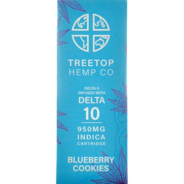 Tree Top Hemp Co Delta 8 & Delta 10 Vape Cartridge Blueberry Cookies 1g